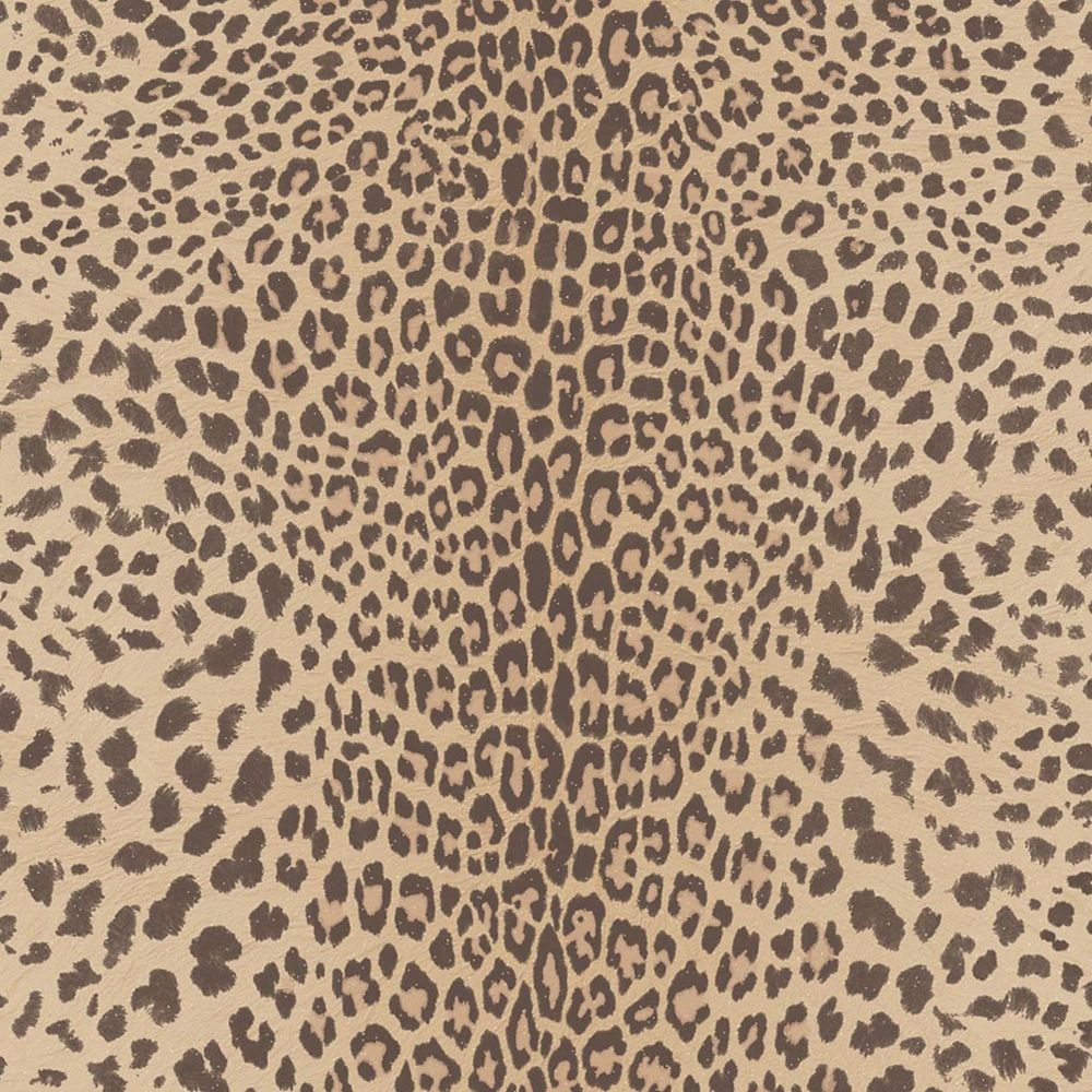 Leopard Beige/Brown/Gold Wallpaper